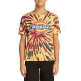 Dickies Boys' Short Sleeve Tie-Dye Tri-Color Logo T-Shirt - Yellow Size M (L10449)