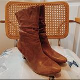 Free People Shoes | L E A T H E R W R I N K L E B O O T S | Color: Brown | Size: 7.5