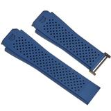 Connected 45 Rubber Watch Band - Blue - Tag Heuer Watches