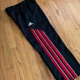 Adidas Bottoms | Adidas Boys Fleece Training Pants, Size S | Color: Black/Red | Size: Sb