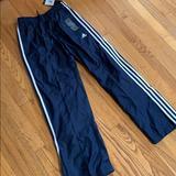Adidas Bottoms | Adidas Nylon Boys Training Pants, Size Boys M. Nwt | Color: Blue/White | Size: Mb