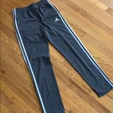Adidas Bottoms | Adidas Boys Fleece Training Pants, Size Boys L. | Color: Gray/White | Size: Lb