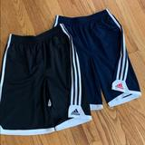 Adidas Bottoms   2 Pairs Adidas Boys Shorts, Size Youth M.   Color: Black/Blue   Size: Mb