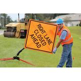 """Accuform Signs FRC786 Tilt-Adjust? Sign Stand for 36"""" or 48"""" Diamond Shaped Construction Sign, Steel"""
