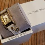 Michael Kors Accessories | 2$40 Watch Michael Kors | Color: Gold/White | Size: Os