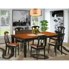 Darby Home Co Beesley Butterfly Leaf Rubberwood Solid Wood Dining Set Wood/Upholstered Chairs in Brown, Size 30.0 H in   Wayfair