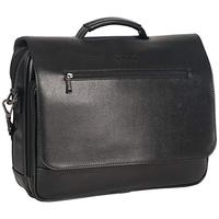 """Kenneth Cole Reaction 15.6"""" Flapover Laptop Case with RFID Bag, Black One Size"""