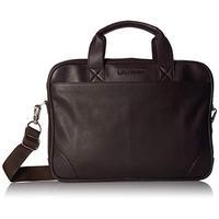 """Ben Sherman Full-Grain Karino Leather 15"""" Laptop & Tablet Top Zip Business Case Bag Laptop Briefcase"""