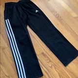 Adidas Bottoms | Adidas Fleece Training Pants, Size Boys 8 | Color: Blue/White | Size: 8b