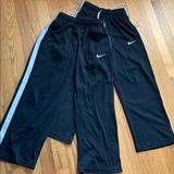 Nike Bottoms | 2 Pairs Nike Nylon Training Pants, Size Boys M. | Color: Blue/White | Size: Mb