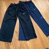 Nike Bottoms | 2 Pairs Nike Dri-Fit Boys Training Pants, Size S | Color: Black/Blue | Size: Sb