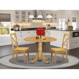 August Grove® Spruill 5 - Piece Drop Leaf Rubberwood Solid Wood Breakfast Nook Dining SetWood in Brown, Size 29.5 H in | Wayfair