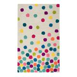 Rizzy Home Playday Dots Wool Area Rug, Multicolor, 3X5 Ft