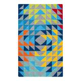 Rizzy Home Playday Kaleidoscope Wool Area Rug, Multicolor, 3X5 Ft