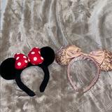 Disney Accessories | 2 Pack Of Minniemickey Ears!!! | Color: Gold | Size: Os