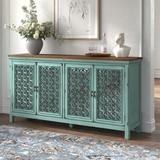 """Kelly Clarkson Home Del 72"""" Wide Sideboard Wood in Green/Brown, Size 37.0 H x 72.0 W x 17.0 D in 