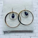 Anthropologie Jewelry | Anthropologie Gold Plated Black Dangle Earrings | Color: Black | Size: Os