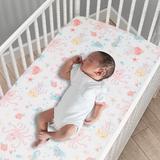 Bedtime Originals Ocean Baby 3 Piece Crib Bedding Set Polyester in Gray/Pink/Yellow, Size 28.0 W in | Wayfair 236003V