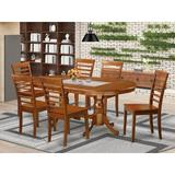 Dining Set - Darby Home Co Germantown Extendable Dining Set, 7 Pieces: 1 Table, 6 Chairs, Wood/Solid Wood, Brown, Medium (Seats 5 to 7)