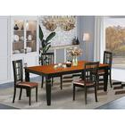 Darby Home Co Beesley Butterfly Leaf Rubberwood Solid Wood Dining Set Wood/Upholstered Chairs in Brown | Wayfair A51EE0916E79448EA13F050D0656535D