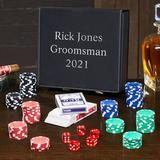 Home Wet Bar 12 Piece Personalized Poker Chips Set, Size 9.0 H x 8.0 W in   Wayfair 7676