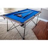 "Triumph Sports USA Pop Up Folding 6' Pool Table, Nylon/Manufactured Wood in Black, Size 31""H X 72""W X 36""D | Wayfair 45-6051W"
