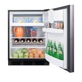 Summit Appliance Basalt 5.1 cu. ft. Convertible Mini Fridge w/ Freezer Stainless Steel in Gray, Size 32.38 H x 23.63 W x 23.5 D in | Wayfair