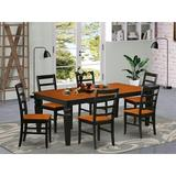 Red Barrel Studio® Arapahoe Butterfly Solid Wood Leaf Dining Set Wood in Black/Brown, Size 30.0 H in   Wayfair AB3214F23CC6486DBEFB1A0310AA3CE3