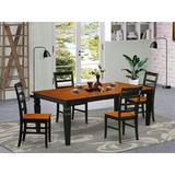 Red Barrel Studio® Arapahoe Butterfly Solid Wood Leaf Dining Set Wood in Black/Brown, Size 30.0 H in   Wayfair C9590FB662254AB480506E84019F461A
