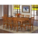 Lark Manor™ Zellmer Butterfly Leaf Rubberwood Solid Wood Dining Set Wood/Upholstered Chairs in Brown, Size 30.0 H in | Wayfair