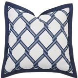 Eastern Accents Carmichael Embroidered Sham Cotton Blend in Blue/White, Size 27.0 H x 27.0 W x 5.0 D in   Wayfair 7W-BB-EUS-35C