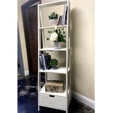 Gracie Oaks Murphysboro Ladder Bookcase Wood in White, Size 69.0 H x 20.0 W x 16.0 D in   Wayfair DEB9FA793B8A4817961AEED090DFB3B3