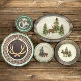 Foundry Select Faulkner Joshua 14 Piece Melamine Dinnerware Set, Service for 4 Melamine in Brown/Gray/Green | Wayfair