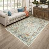 World Menagerie Clairette Oriental Tufted Blue Area RugPolyester in Blue/Brown, Size 72.0 H x 30.0 W x 0.41 D in   Wayfair