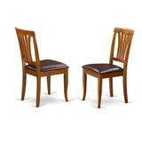 Alcott Hill® Teressa Butterfly Leaf Dining Set Wood/Upholstered Chairs in Brown, Size 30.0 H in | Wayfair PFAV9-SBR-LC