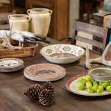 Loon Peak® Carlsen Loon Peak Aztec Bear 14 Piece Melamine Dinnerware Set, Service for 4 Melamine in Brown/Green/Red | Wayfair