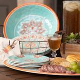 Gidran World Menagerie Western 10 Piece Melamine Dinnerware Set, Service for 4 Melamine in Blue/Brown/Green | Wayfair