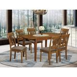 Lark Manor™ Leff Butterfly Leaf Solid Wood Breakfast Nook Dining Set Wood/Upholstered Chairs in Brown, Size 30.0 H in   Wayfair