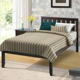 Latitude Run® Analey Twin Solid Wood Platform Bed Wood in Brown, Size 42.28 W x 78.5 D in | Wayfair C764B30704B14A91A3488530E5D4A3AB