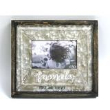 Gracie Oaks Bannockburn Family First & Forever Wood & Metal Picture Frame Wood/Metal in Brown, Size 9.25 H x 10.75 W x 0.75 D in | Wayfair
