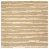 Dakota Fields Aryana Striped Handmade Tufted Beige Area Rug Viscose/Wool/Cotton in Brown/White, Size 72.0 W x 0.5 D in   Wayfair BLMT2298 41781204