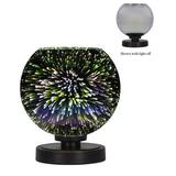 "Latitude Run® Aneka 8.75"" Dark Granite Buffet LampGlass/Metal in Gray, Size 8.75 H x 8.5 W x 8.5 D in | Wayfair 65213D7974344767880CFCE4D2A29B51"