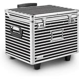 Vaultz® Mobile Chest File Box Corrugated/Plastic in Black/White, Size 14.5 H x 17.5 W x 15.5 D in | Wayfair VZ00685