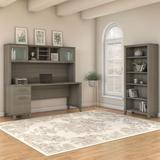 """Bush Furniture Somerset 72""""W with Hutch and Bookcase - SET020AG"""