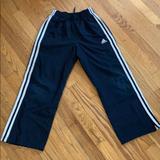 Adidas Bottoms   Adidas Boys Navy Nylon Lined Training Pants Size S   Color: Blue/White   Size: Sb