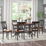 Lark Manor™ Zellmer Butterfly Leaf Dining Set Wood in Black/Brown, Size 30.0 H in | Wayfair DBHC4541 26880343
