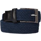 Men's Big & Tall Elastic Braid Belt by KingSize in Navy (Size 64/66)