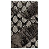 Jewel 5' x 8' Area Rug by Linon Home Dcor in Brown Black