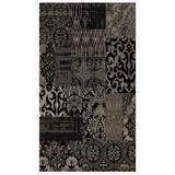 Jewel 5' x 8' Area Rug by Linon Home Dcor in Black Grey