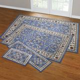 Floral Vine 4-Pc. Rug Set with Runner by BrylaneHome in Blue